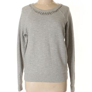 Cynthia Rowley Embellished Neckline Pullover (S)